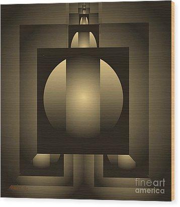 Digital Design 619 Wood Print by Nedunseralathan R