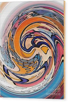Digital Dunkin Wood Print by Sarah Loft