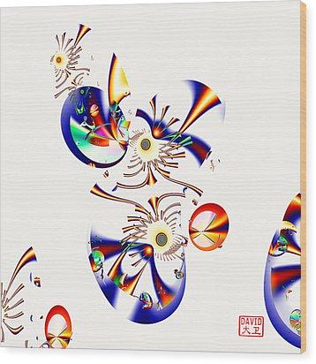 Digital Picasso - Tweet Tweet Wood Print by David Jenkins