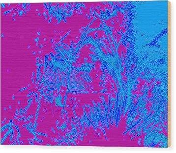 Digital Visual Wood Print by HollyWood Creation By linda zanini