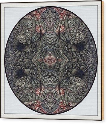 Digitized Ballpoint September Seventeenth Wood Print