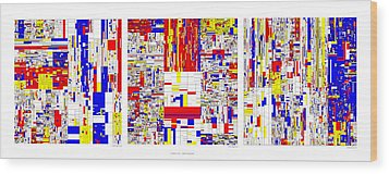 Digits Of Pi Phi And E In A 6 Level Treemap Wood Print by Martin Krzywinski