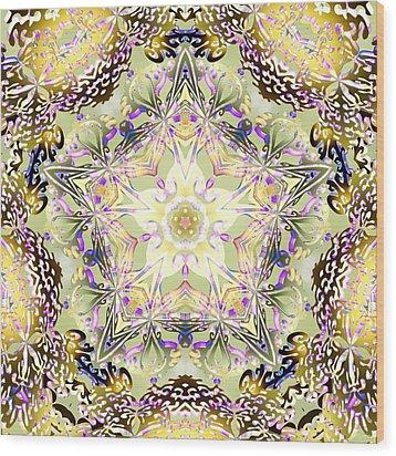 Digmandala Simha Wood Print by Derek Gedney