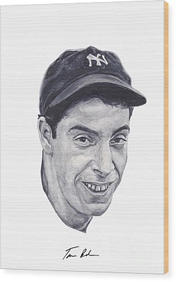 Wood Print featuring the painting Dimaggio by Tamir Barkan