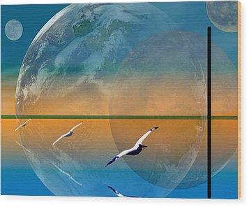 Dimensional Rift Wood Print