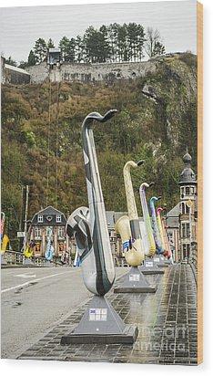 Dinant Sax Tribute 2 Wood Print by Deborah Smolinske