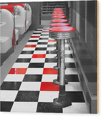 Diner - 1 Wood Print by Nikolyn McDonald
