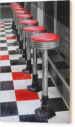 Diner #2 Wood Print by Nikolyn McDonald