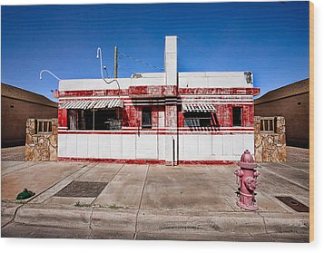 Diner Wood Print by Peter Tellone