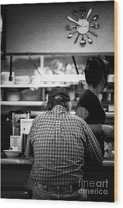 Wood Print featuring the photograph Diner Regular by Catherine Fenner