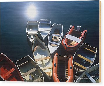 Wood Print featuring the photograph Dinghies And Rowboats - Maine by David Perry Lawrence