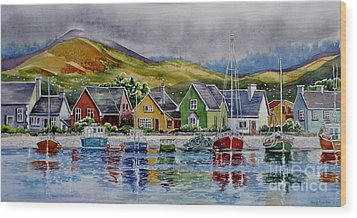 Dingle-harbour-1 Wood Print by Nancy Newman
