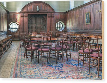 Wood Print featuring the photograph Dining Hall Wren Building by Jerry Gammon