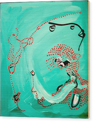 Dinka Corset - Manlual - South Sudan Wood Print by Gloria Ssali