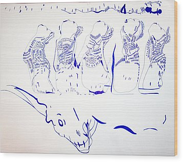 Dinka Wise Virgins -south Sudan Wood Print by Gloria Ssali
