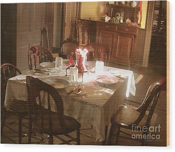 Wood Print featuring the photograph Dinner Party by Cristophers Dream Artistry