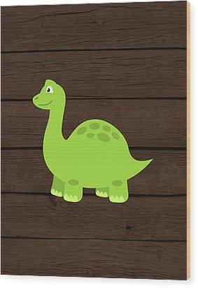 Dinosaur Wood I Wood Print by Tamara Robinson