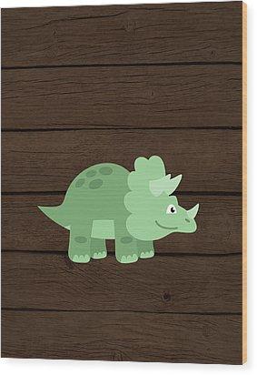 Dinosaur Wood II Wood Print by Tamara Robinson