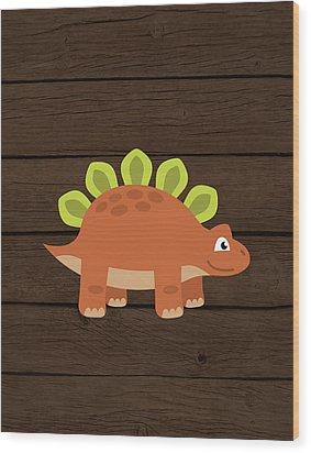 Dinosaur Wood IIi Wood Print by Tamara Robinson