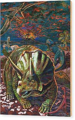 Dinosaurs Wood Print by Dan Terry