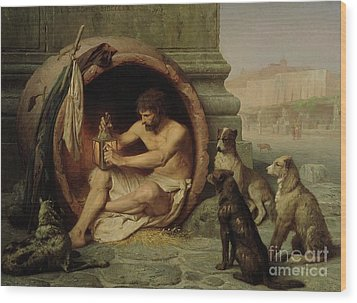 Diogenes Wood Print by Jean Leon Gerome