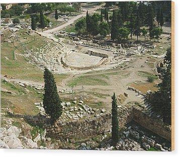 Dionysus Amphitheater Wood Print