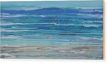 Dip In The Sea      Wood Print