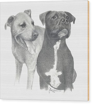 Dippy And Muggs Wood Print