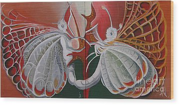 Diptych-double Canvas Wood Print