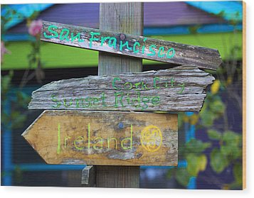 Directions In Life Wood Print