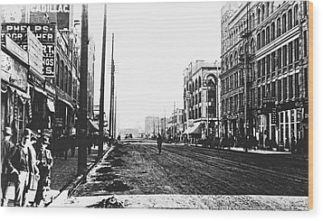 Downtown Dirt Spokane C. 1895 Wood Print by Daniel Hagerman