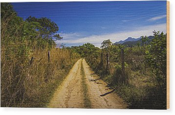 Dirt Road Wood Print by Aged Pixel