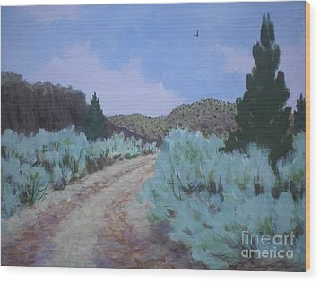 Dirt Road Wood Print by Suzanne McKay