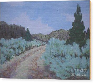 Dirt Road Wood Print