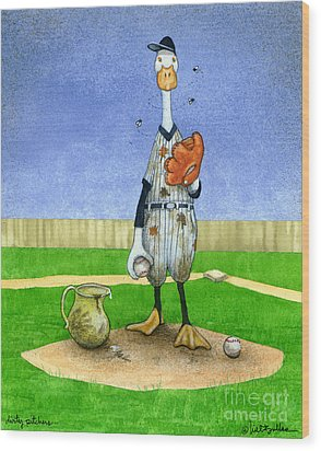 Dirty Pitchers... Wood Print by Will Bullas