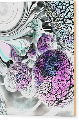 Wood Print featuring the digital art Disco 2 by Nico Bielow