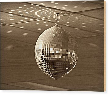 Disco Ball Wood Print