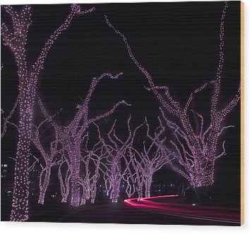 Wood Print featuring the photograph Disco Trees by Jim Snyder