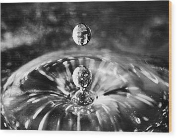 Disco Water Drop Wood Print