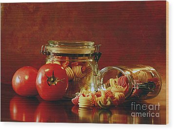 Discover A Taste Of Italy  Wood Print by Inspired Nature Photography Fine Art Photography