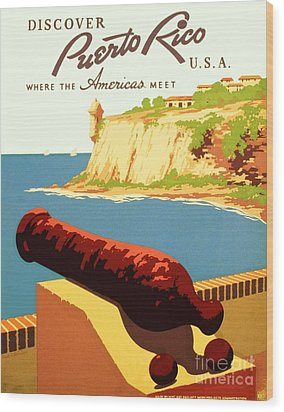 Discover Puerto Rico Wood Print by Pg Reproductions