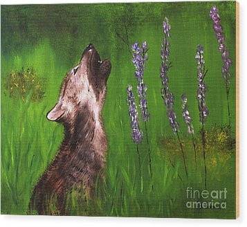 Discovering His Voice Wood Print by Bev Conover