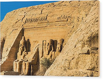 Discovering The Nubian Monuments Of Ramses II Wood Print by Mark E Tisdale