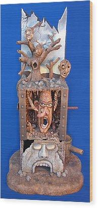 Disgruntled Again Wood Print by Stuart Swartz