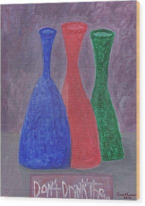 Disillusion Wood Print by Carol  Eliassen