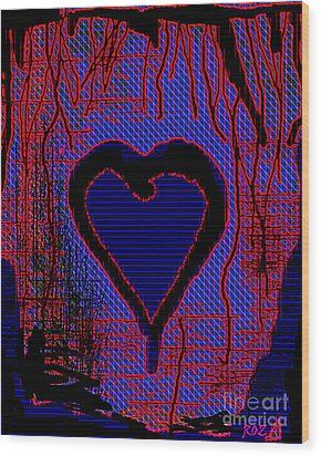 Disintegration Wood Print by Roz Abellera Art