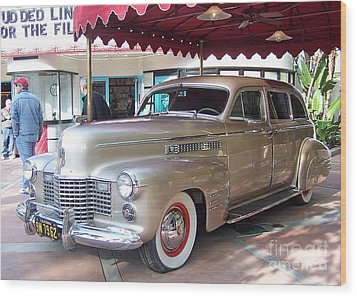 Wood Print featuring the photograph Disney Cadillac by Tom Doud