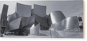 Disney Concert Hall - 02 Wood Print by Gregory Dyer