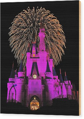 Disney Magic Wood Print by Benjamin Yeager