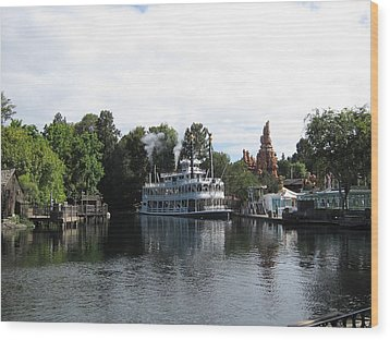 Disneyland Park Anaheim - 121212 Wood Print by DC Photographer